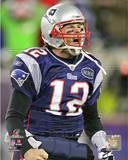 Tom Brady Celebrates his Touchdown run AFC Championship Game Photo