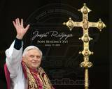 Pope Benedict XVI - Horiz. (Cross) Photo