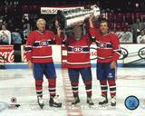 Jean Beliveau / Henri Richard / Guy Lafleur - Holding Stanley Cup Photo
