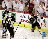 Sidney Crosby, Evgeni Malkin, & Marian Hossa Celebrate Crosby's 2nd Goal Game 3 Stanley Cup Finals Photo