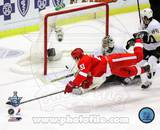 Valtteri Filppula scores a diving third period goal during Game 2 of the 2008 NHL Stanley Cup Final Photo