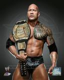 The Rock with the WWE Championship Belt 2013 Posed Photo