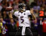 Joe Flacco Super Bowl XLVII Action Photo