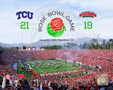 TCU Horned Frogs Rose Bowl Champions with Overlay Photo
