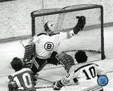 Gerry Cheevers - Black and White / Action Photo