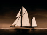 Sailing Off Sepia Giclee Print by Ben Wood
