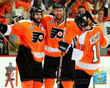 Mike Richards, Simon Gagne, & Jeff Carter 2010 NHL Stanley Cup Finals Photo