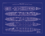 Titanic Blueprint II Giclee Print by  The Vintage Collection