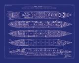 Titanic Blueprint II Giclee Print