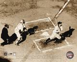 Babe Ruth - Homeplate Action Photo