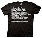 The Big Bang Theory - Paper Rock Spock Rules T-shirts