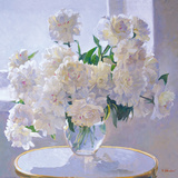 Peonies, Morning Light Impression giclée par Valeriy Chuikov