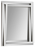 Delaney Angled Rectangular Mirror Wall Mirror by Jonathan Wilner/ Kelly Stevenson