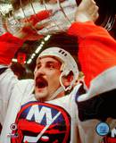Bryan Trottier - Holding Stanley Cup Photo