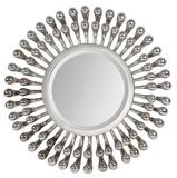 Evana Silver Plated Circular Mirror Wall Mirror by Jonathan Wilner/ Kelly Stevenson