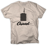 Capitol Records - Tower on Natural T-Shirt