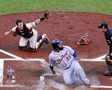 Buster Posey tags out Prince Fielder Game 2 of the 2012 MLB World Series Action Photo