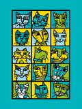 Cat Composite Giclee Print by Anne Leuck Feldhaus