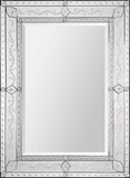 Gianna Venetian Etched Rectangular Mirror Wall Mirror by Jonathan Wilner/ Kelly Stevenson