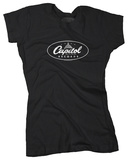 Juniors: Capitol Records - Capitol on Black T-Shirt