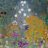 Giardino in fiore con sentiero Stampa giclée di Gustav Klimt