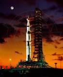 Apollo 11 Saturn V Space Vehicle Photo