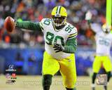 B.J. Raji 2010 NFC Championship Game Touchdown Photo
