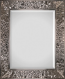 Lexi Satin Nickel Plated Mirror Wall Mirror by Jonathan Wilner/ Paul De Bellefeuille
