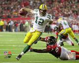 Aaron Rodgers 2010 Playoff Action Photo