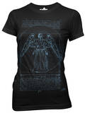 Juniors: Doctor Who - Vitruvian Angel Shirt