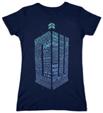 Women's: Doctor Who - Logo Of Words T-shirt