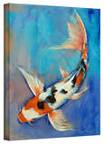 Michael Creese Sanke Butterfly Koi Gallery-Wrapped Canvas Stretched Canvas Print by Michael Creese