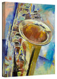 Michael Creese Saxophone Gallery-Wrapped Canvas Stretched Canvas Print by Michael Creese