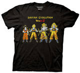 Dragonball Z - Goku Saiyan Evolution T-shirts
