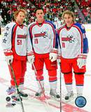 Brian Campbell, Jonathan Toews, Patrick Kane 2008-09 NHL All-Star Game Photo