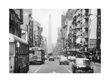 An Avenue of Buenos Aires Premium Photographic Print by Mario de Biasi
