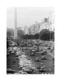 Avenue in Buenos Aires Premium Photographic Print by Mario de Biasi