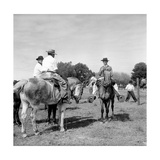 Some Gauchos on Horseback Premium Photographic Print by Walter Mori