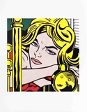 Blonde Waiting Samlartryck av Roy Lichtenstein