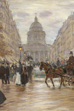 Boulevard Saint Michel, 1898, 19th Century Giclee Print by Unknown Artist
