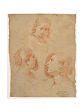 Three Studies of Female Heads Giclee Print by  il Pesarese