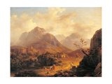 Landscape with Characters in the Foreground Giclee Print by  a crag and foggy