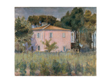 Landscape in the Park Near the Casa Rossa Giclee Print by Fabbri Paolo Egisto