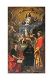 Immaculate Conception and Sts. John the Evangelist Giclee Print by  il Pesarese