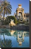 Fountain in the Parc de la Ciutadella in Barcelona, Catalonia, Spain Stretched Canvas Print