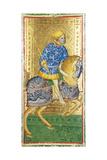The Knight of Spades Tarot Cards Giclee Print by Bembo Bonifacio