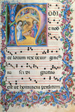 Day Hours and Night Hours Antiphonary From First Saturday of Advent To IV Sunday After Epiphany Giclée-tryk