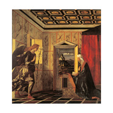 The Herald Angel and the Annunciation Giclee Print by Giovanni Bellini