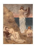 Young Girls at the Seaside Giclee Print by Pierre Puvis de Chavannes