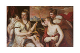 The Punishment of Cupid (Venus Blindfolding Cupid) Giclée-tryk af Titian (Tiziano Vecelli)
